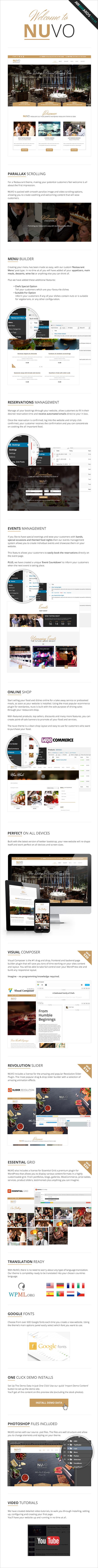 nuvo3 - NUVO - Cafe & Restaurant WordPress Theme - Multiple Restaurant & Bistro Demos