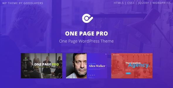 one - One Page Pro - Multi Purpose OnePage WordPress Theme