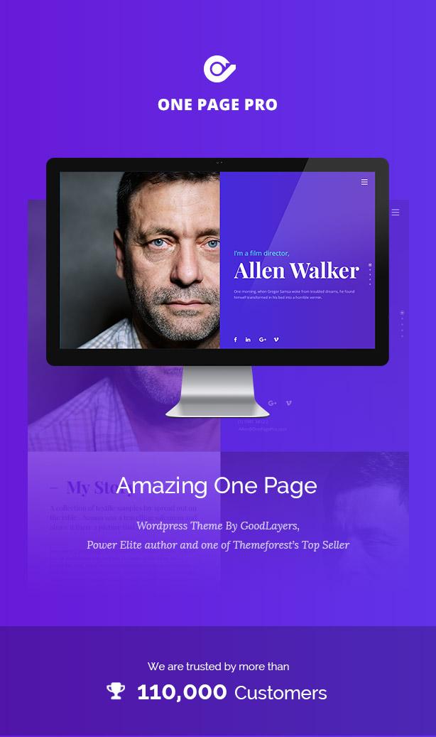 one2 - One Page Pro - Multi Purpose OnePage WordPress Theme