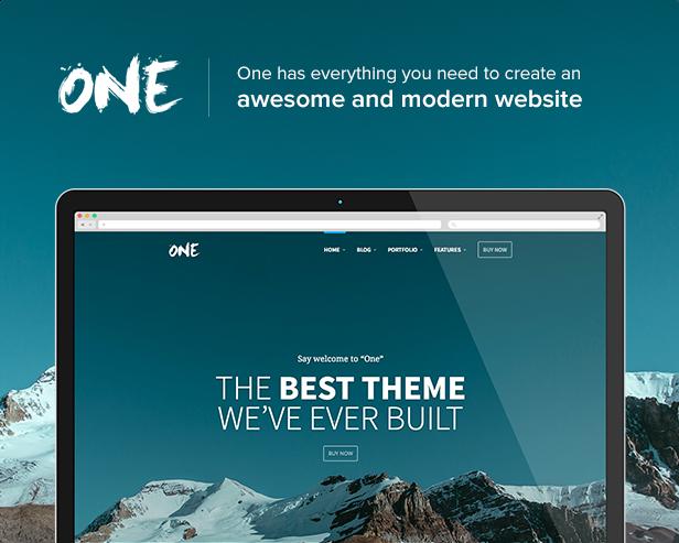 one2 - One - The Creative Multipurpose Portfolio theme