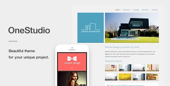 onestudio - OneStudio - A Unique Responsive WordPress Theme