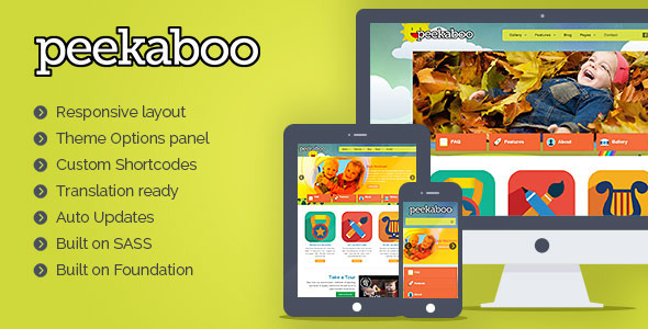 pekaboo - Peekaboo - Children WordPress Theme