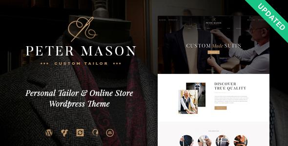 peter - Peter Mason   Custom Tailoring and Clothing Store WordPress Theme