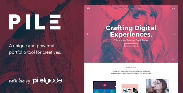pile - PILE - An Uncoventional WordPress Portfolio Theme