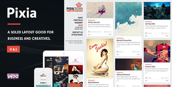 pixia - Pixia - Showcase WordPress Theme