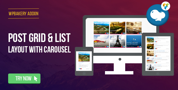 post - WPBakery Page Builder - Post Grid/List Layout With Carousel (formerly Visual Composer)
