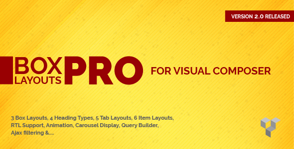 pro - Pro Box Layout for Visual Composer : Displaying Post & Custom Post in a News & Magazine Style