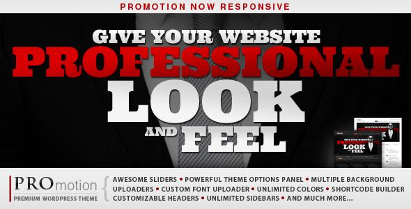 promotion - ProMotion Responsive WordPress Theme