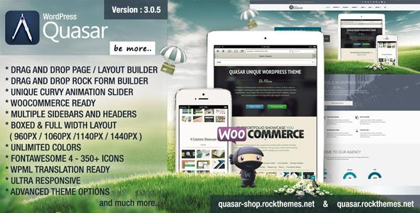 quasar - Quasar - WordPress Theme with Animation Builder