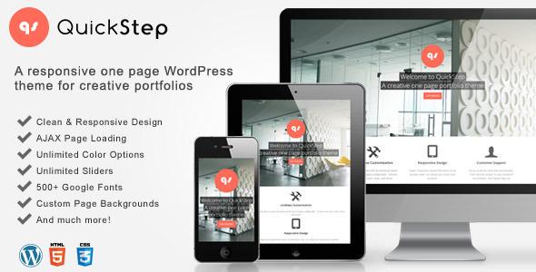 quickstep - QuickStep - Responsive One Page Portfolio Theme
