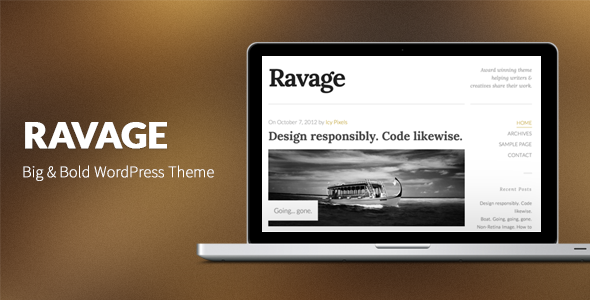 ravage - Ravage: Big & Bold WordPress Theme