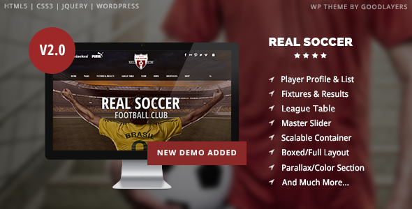real 1 - Real Soccer - Sport Clubs Responsive WP Theme