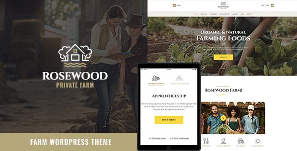 resewood - Rosewood | Organic Farming WordPress Theme