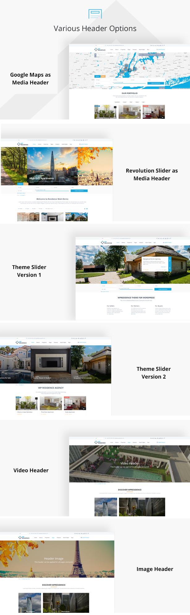 residence6 - Residence Real Estate WordPress Theme