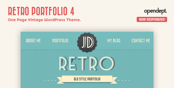 retro - Retro Portfolio - One Page Vintage WordPress Theme