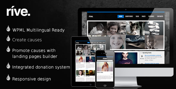 rive - Rive - Responsive Charity WordPress Theme