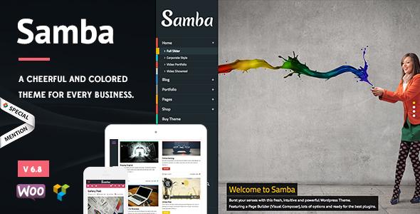 samba - Samba - Colored WordPress Theme