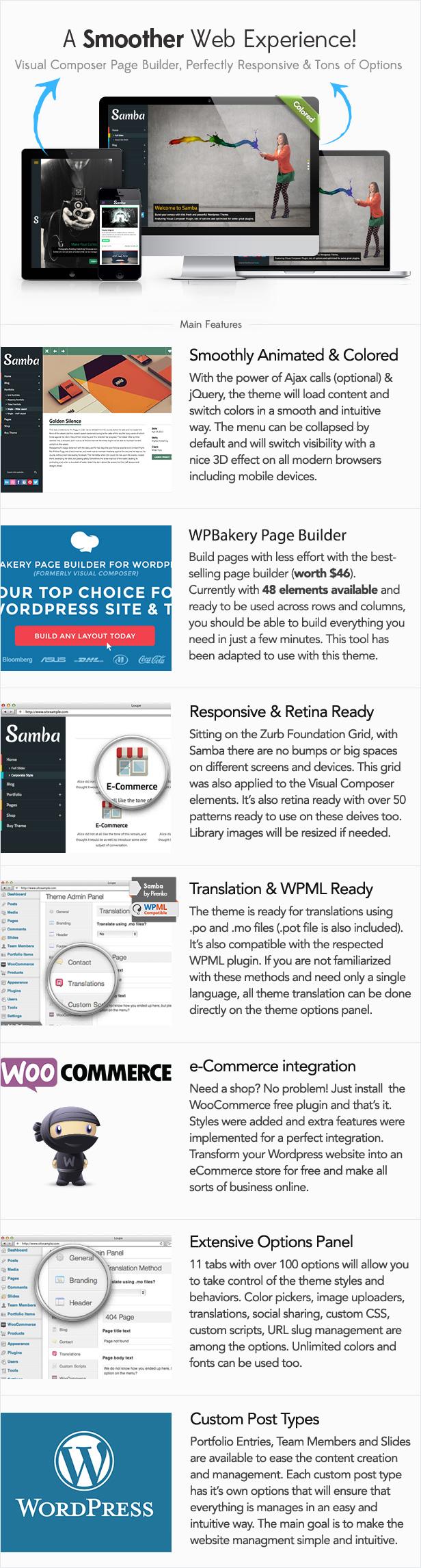 samba2 - Samba - Colored WordPress Theme