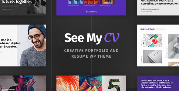 see - See My CV - Resume & vCard WordPress Theme