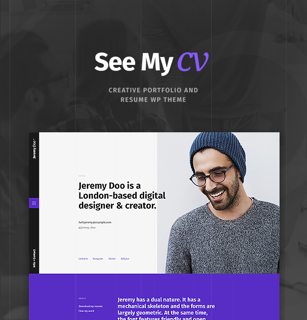 see2 - See My CV - Resume & vCard WordPress Theme