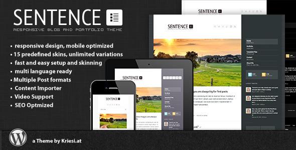 sentence - Sentence - Responsive Blog and Portfolio