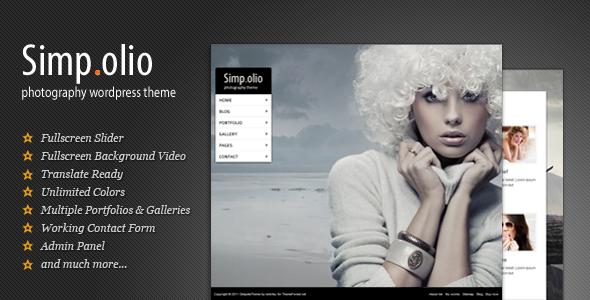 simpolio - Photography WordPress Theme | Simpolio