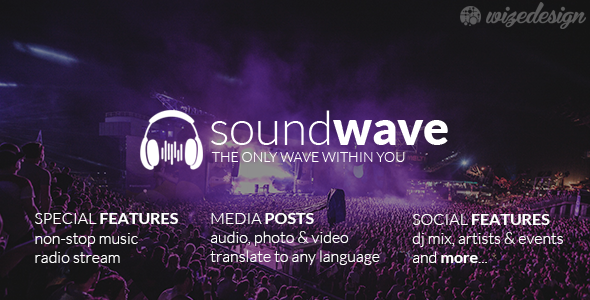 soundwave - SoundWave - The Music Vibe WordPress Theme