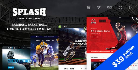 splash - Splash - WordPress Sports Theme for Basketball, Football, Soccer and Baseball Clubs