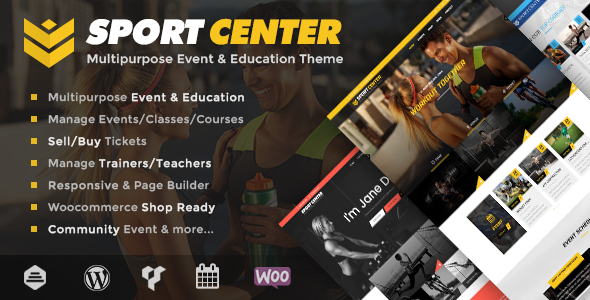 sport - Sport Center - Multipurpose Events & Education WordPress Theme