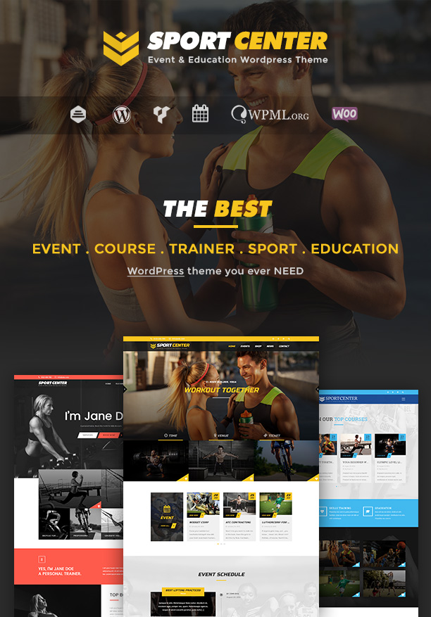 sport2 - Sport Center - Multipurpose Events & Education WordPress Theme