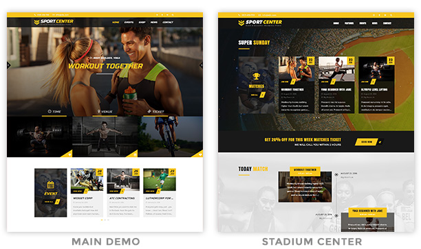 sport4 - Sport Center - Multipurpose Events & Education WordPress Theme