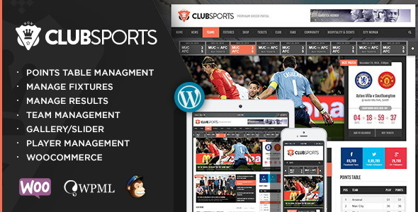 sports - Club Sports - Events and Sports News Theme