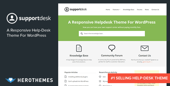 support - SupportDesk - A Responsive Helpdesk Theme
