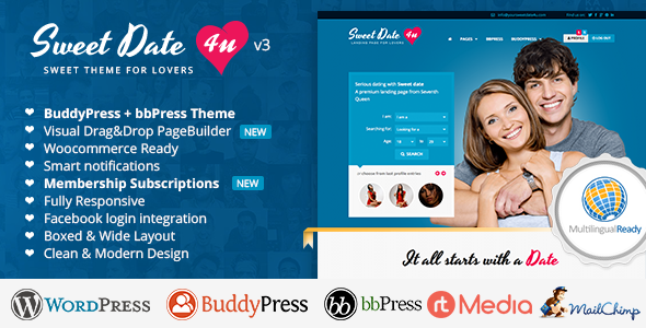 sweet - Sweet Date - More than a Wordpress Dating Theme