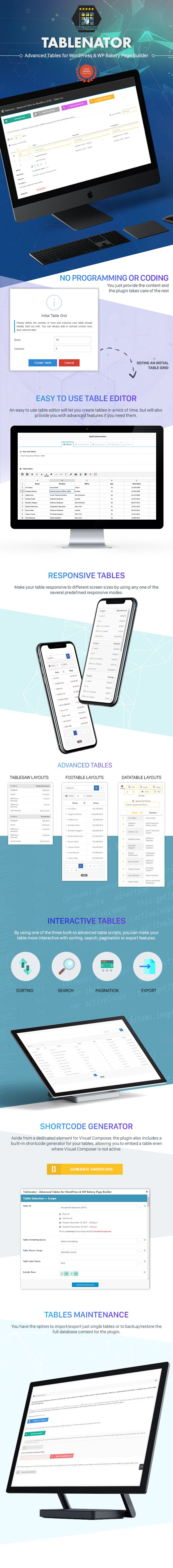 tablenator2 - Tablenator - Advanced Tables for WordPress & WP Bakery Page Builder