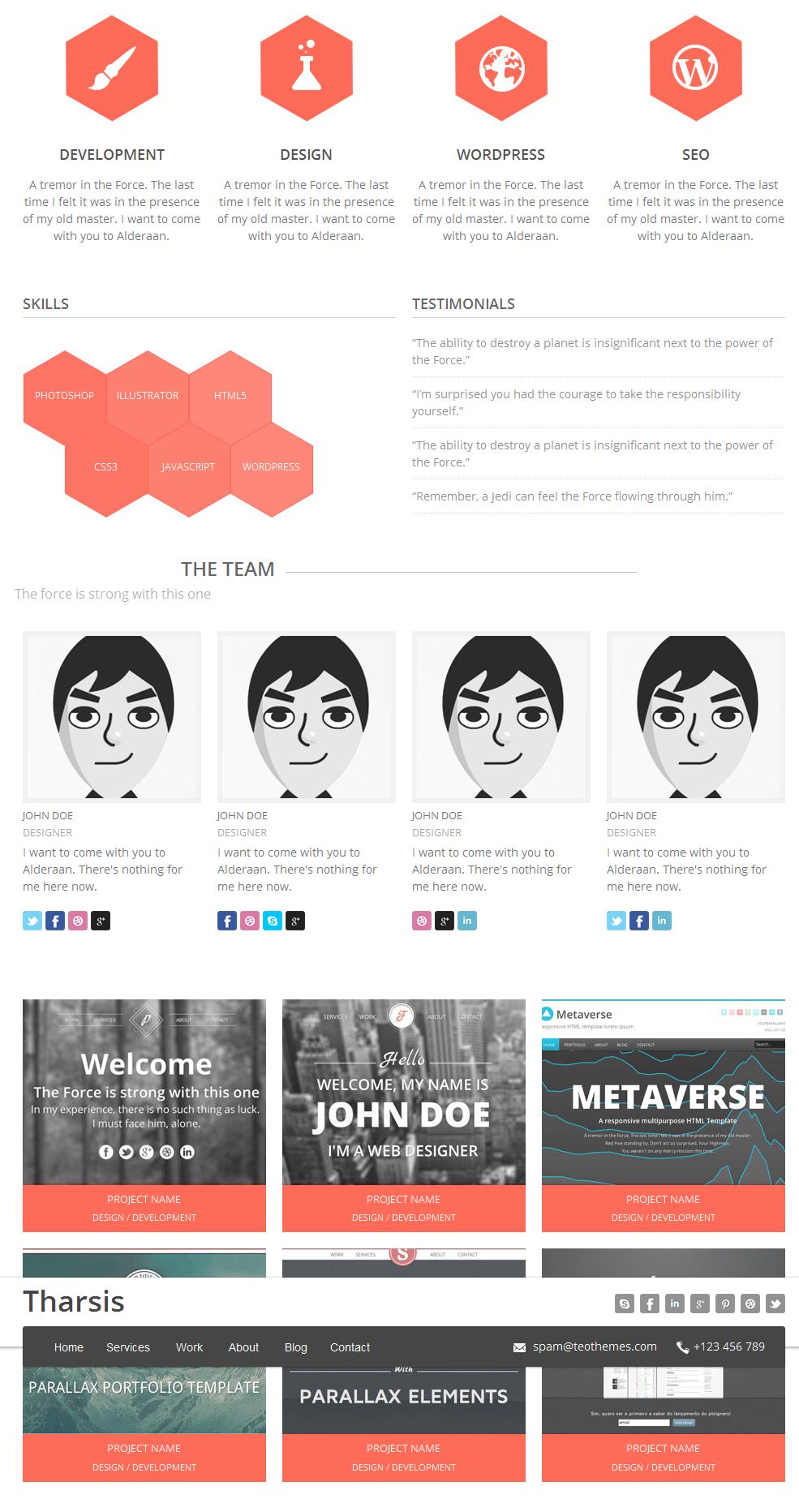 tharsis2 - Tharsis - Responsive One Page Portfolio Theme