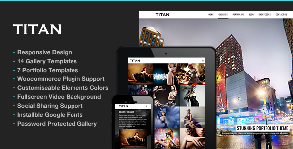 titan - Photography WordPress   Titan for Photography