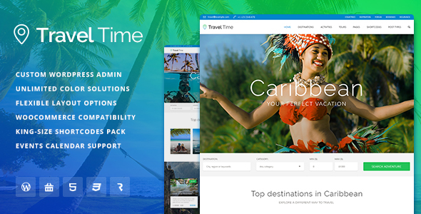 travel time - Travel Time - Tour, Hotel and Vacation Travel WordPress Theme