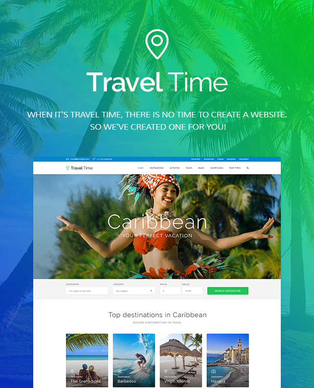 travel time2 - Travel Time - Tour, Hotel and Vacation Travel WordPress Theme