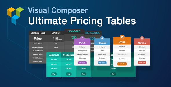 ultimate 2 - Visual Composer Ultimate Pricing Tables Add-on