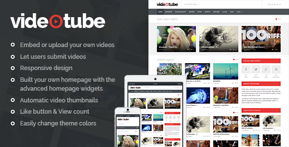 videotube - VideoTube - A Responsive Video WordPress Theme