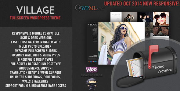 village - Village - A Responsive Fullscreen WordPress Theme