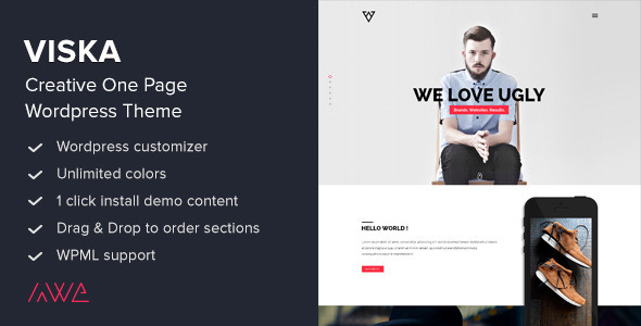 viska - Viska - Creative One Page WordPress Theme