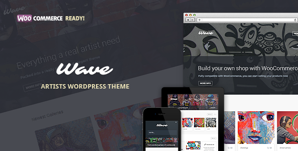 wave - Wave - WordPress Theme for Artists