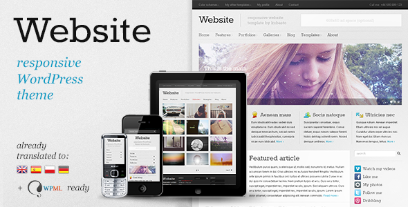 website - Website - Responsive WordPress Theme