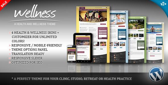 wellness - Wellness - A Health & Wellness WordPress Theme
