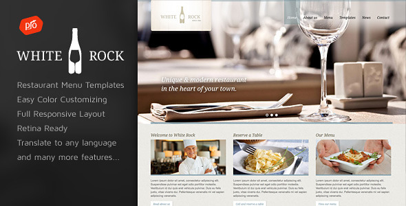 white - White Rock - Restaurant & Winery Theme