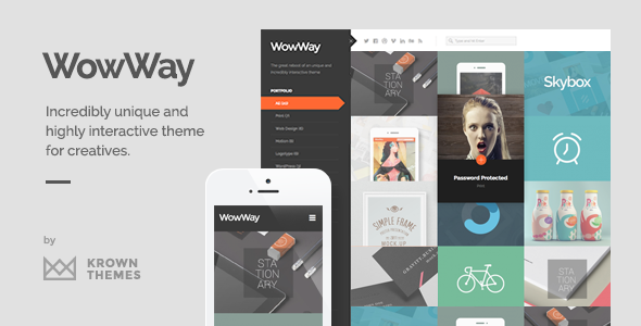 wowway - WowWay - Interactive & Responsive Portfolio Theme