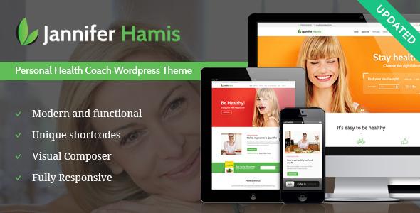wp theme for personal health - Health Coach Blog & Lifestyle Magazine WordPress Theme