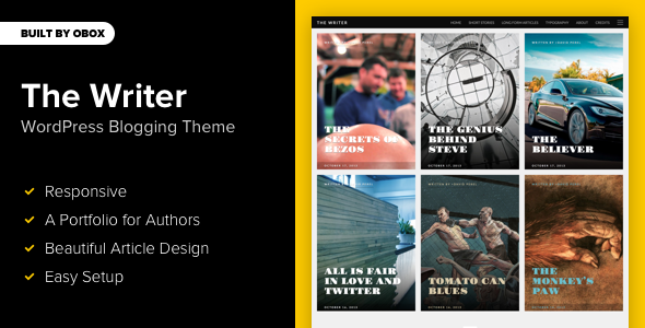 writer - The Writer - Premium WordPress Blogging Theme
